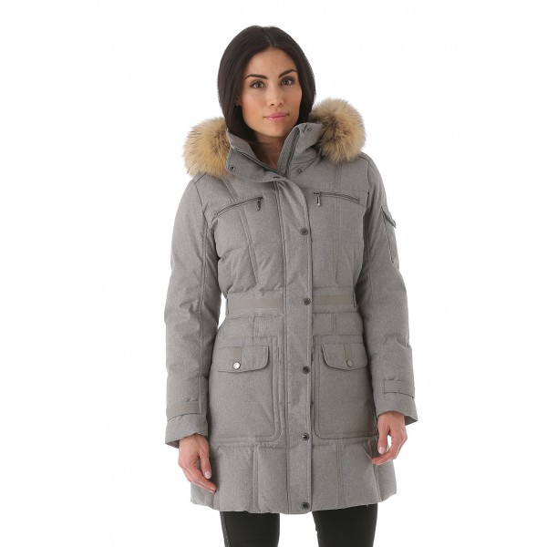 Sunice Womens Tanya Primadown Coat With Natural Finn Raccoon Fur