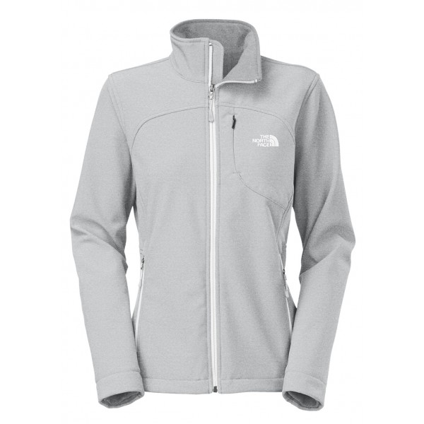 The North Face Womens Apex Bionic Jacket (High Rise Grey Heather/TNF White)