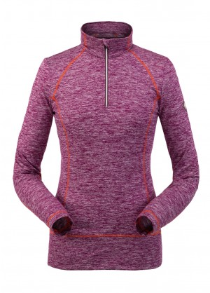 Spyder Womens Accord Zip T-Neck - WinterWomen.com
