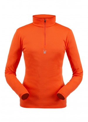 Spyder Womens Tempting Zip T-Neck - WinterWomen.com
