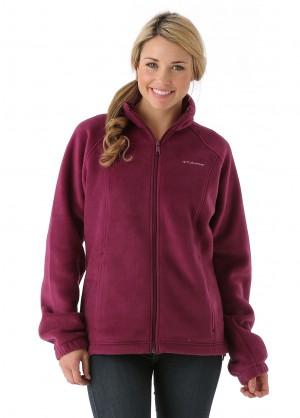 Columbia Womens Benton Springs Full-Zip (Dark Raspberry)