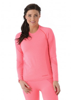Spyder Womens Runner L/S Top (Bryte Pink)