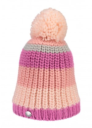 Obermeyer Womens Stripe Pom Knit Hat - WinterWomen.com