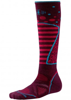 Smartwool Womens PhD Ski Medium Pattern (Aubergine)